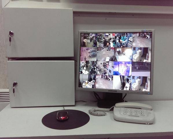 Интегрированная система IP видеонаблюдения офис